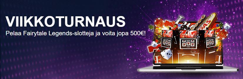 SuomiVegas-nettikasinon viikkoturnaus on huikea.